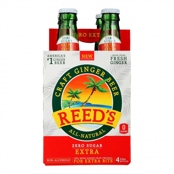 Reed's - Ginger Beer Extra 0 Sugar - Case Of 6 - 4/12 Fz