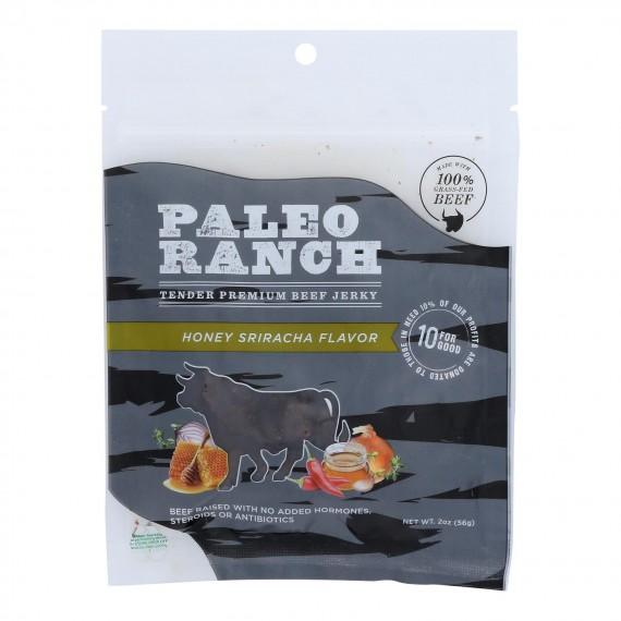 Paleo Ranch - Jerky Beef Hny Sriracha - Case Of 8 - 2 Oz