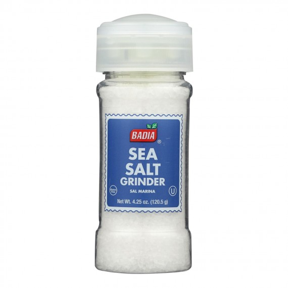 Badia Spices - Spice Seasalt Grinder - Case Of 8-4.5 Oz