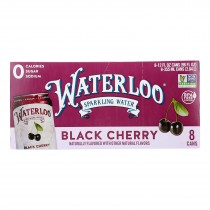Waterloo - Sparkling Water Black Cherry - Case Of 3 - 8/12 Fz