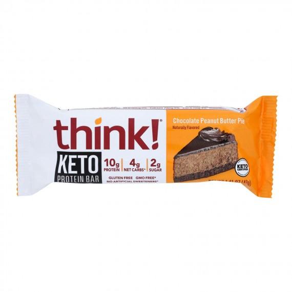 Think! Thin - Bar Keto Prtn Choc Pb Pie - Cs Of 10-1.41 Oz