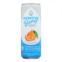 Positive H20 - Sparkling Bev Mandarin Orange - Case Of 12 - 12 Fz