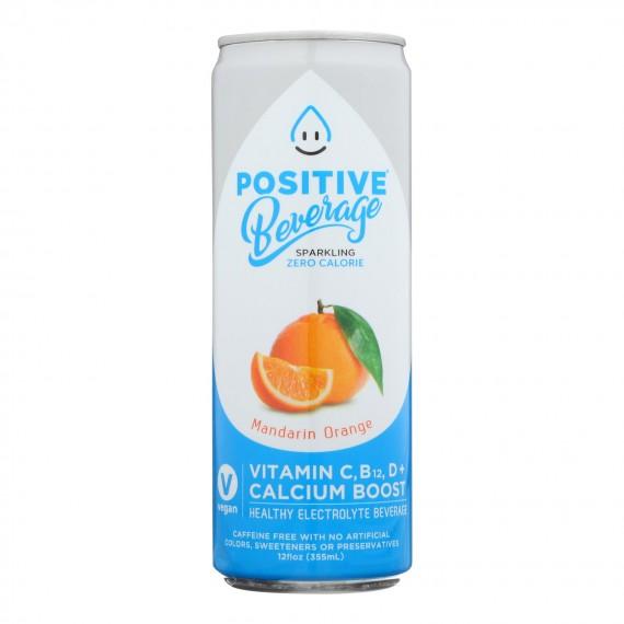 Positive H20 - Sparkling Bev Mandarin Orange - Case Of 12 - 12 Fz