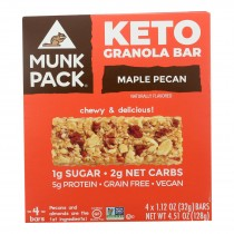 Munk Pack - Green Bar Maple Pecan Keto - Case Of 6 - 4/1.12oz