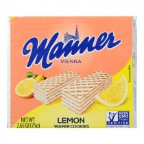 Manner - Wafer Lemon - Case Of 12 - 2.65 Oz