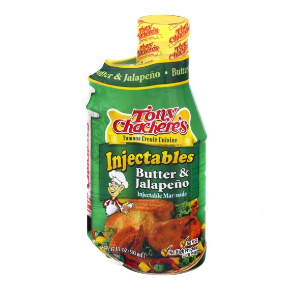 Tony Chachere's Butter & Jalapeno Injectable Marinade - Case Of 6 - 17 Oz