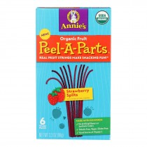 Annie's Homegrown - Peel-a-part Fruit Snacks Strawberry Peel - Case Of 8 - 3.3 Oz