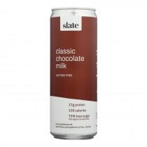 Slate Milk - Milk Aseptic Lf Chocolate - Case Of 12 - 11 Fz