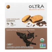 Olyra - Breakfast Sandwich Biscuit Dark Chocolate - Case Of 6 - 5.3 Oz