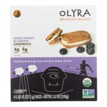 Olyra - Breakfast Sandwich Biscuit Greek Yogurt Blueberry - Case Of 6 - 5.3 Oz